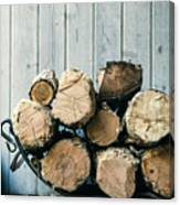Fire Wood.  Home Living Concept Canvas Print