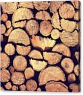 Firewood Logs Canvas Print