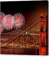 Firework At San Francisco, California Canvas Print