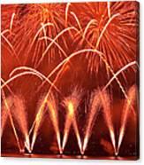Fireworks Over West Lake, Hangzhou Canvas Print