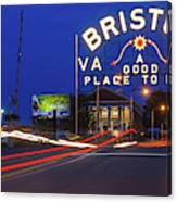 First Night Of The Bristol Sign With New Led Bulbs Canvas Print