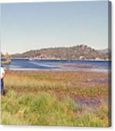 Fishing At Big Bear Canvas Print