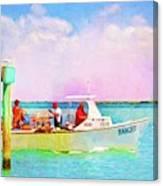 Fishing Bandit Canvas Print