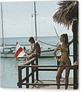 Fishing On Honeymoon Porch Canvas Print