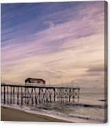 Fishing Pier Sunrise Canvas Print