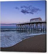 Fishing Pier Sunset Canvas Print