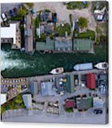Fishtown Dam Panorama From Above Canvas Print