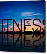 Fitness Concept Canvas Print