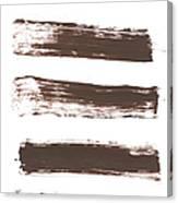Five Tan Streaks Of Paint Canvas Print