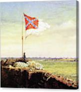 Flag Of Fort Sumter Canvas Print