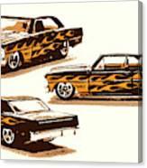 Flamin Chevrolet 66 Nova Canvas Print