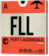Fll Fort Lauderdale Luggage Tag I Canvas Print