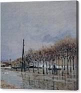 Flood At Port-marly, 1878 Canvas Print