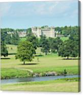 Floors Castle And River Tweed Canvas Print
