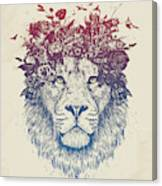 Floral lion III Canvas Print