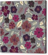 Floral Seamless Pattern. Colored Canvas Print