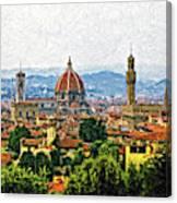 Florence Impasto Canvas Print