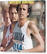 Florida Frank Shorter, 1976 Us Olympic Trials Sports Illustrated Cover Canvas Print