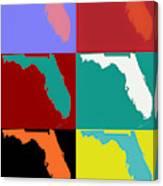 Florida Pop Art Map Canvas Print