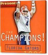 Florida Qb Danny Wuerffel, 1997 Sugar Bowl Sports Illustrated Cover Canvas Print