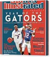 Floridas Corey Brewer And Qb Chris Leak, Florida Gators Sports Illustrated Cover Canvas Print