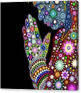Flower Prayer Girl Canvas Print