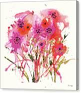 Flower Talk Gold Canvas Print