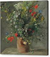 Flowers In A Vase, Circa 1866 Canvas Print