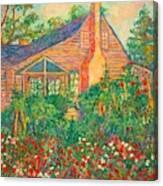 Flowery Backyard Canvas Print