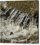 Flowing Water Over Rocks Canvas Print