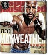 Floyd Mayweather Jr., 2015 Wbawbcwbo Welterweight Title Sports Illustrated Cover Canvas Print