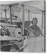 Flyer In Aircraft Cockpit Canvas Print