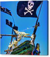 Flying The Pirates Colors Canvas Print