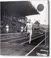 F.m. Taylor Wins 400 Meter Olympic Canvas Print