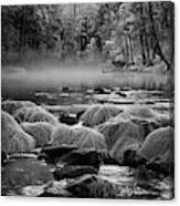 Fog On Yosemite River Canvas Print