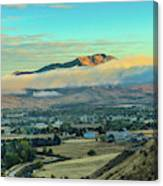Fog Over Squaw Butte Canvas Print