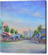 Folly Beach Center Street Canvas Print