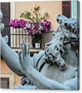 Fontana Dei Quattro Fiumi Canvas Print