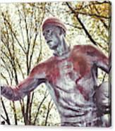 Football Statue - Rutgers University Canvas Print