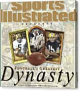 Footballs Greatest Dynasty The 1960s Packers Sports Illustrated Cover Canvas Print