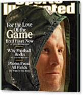 For The Love Of The Game Brett Favre Now Sports Illustrated Cover Canvas Print