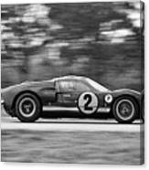 Ford Prototype Racecar On Track Canvas Print