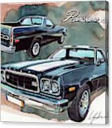 Ford Ranchero 500 Canvas Print