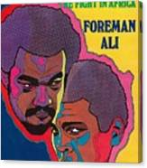 Foreman And Ali, Fight In Africa Preview Sports Illustrated Cover Canvas Print