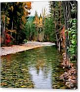 Forest With River Canvas Print