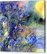 Forget-me-not Watercolor Canvas Print