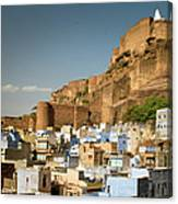 Fort Mehrangarh And Old Town In Jodhpur Canvas Print