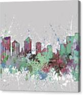 Fort Worth Skyline Artistic Pastel Canvas Print