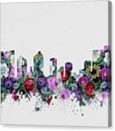 Fort Worth Skyline Floral 2 Canvas Print