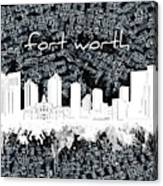 Fort Worth Skyline Music Sheet 2 Canvas Print